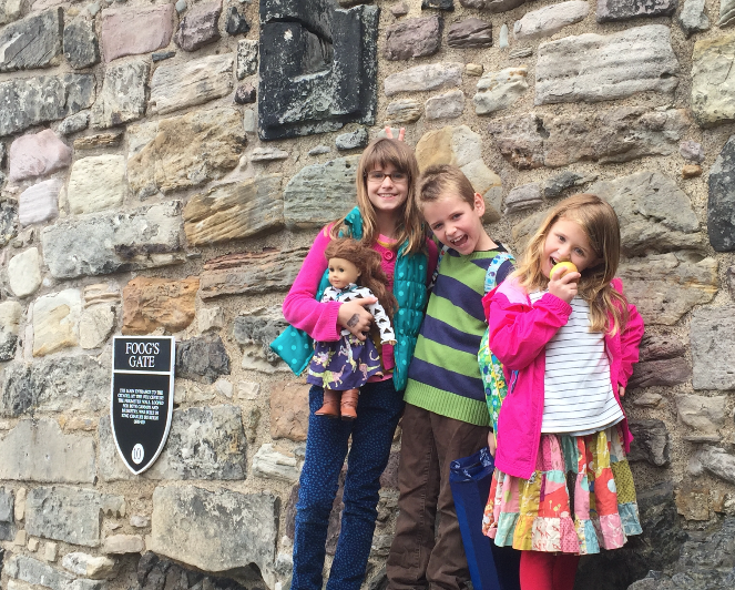 babies in Edinburgh castle
