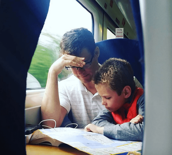 on-train-to-london