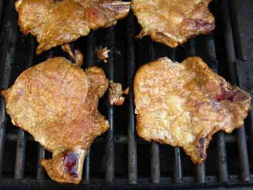 Grilled Thin Pork Chops, Quick Brinerated | DadCooksDinner.com