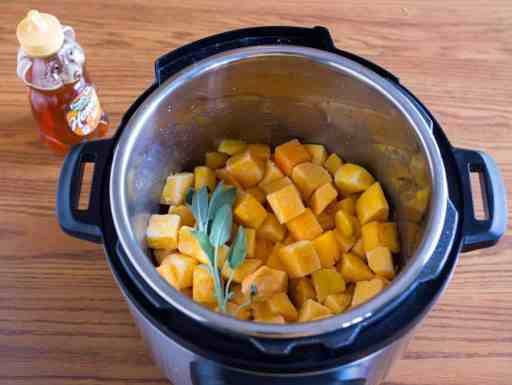 Pressure Cooker Butternut Squash with Sage and Honey   DadCooksDinner.com