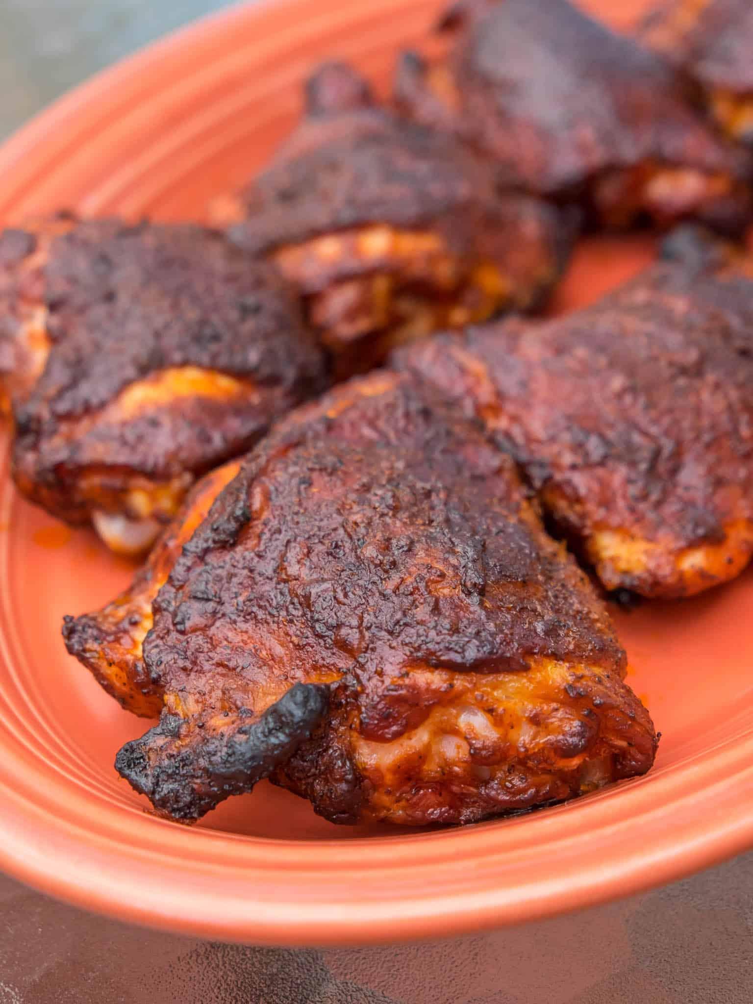 Grilled Bbq Chicken Thighs Dad Cooks Dinner