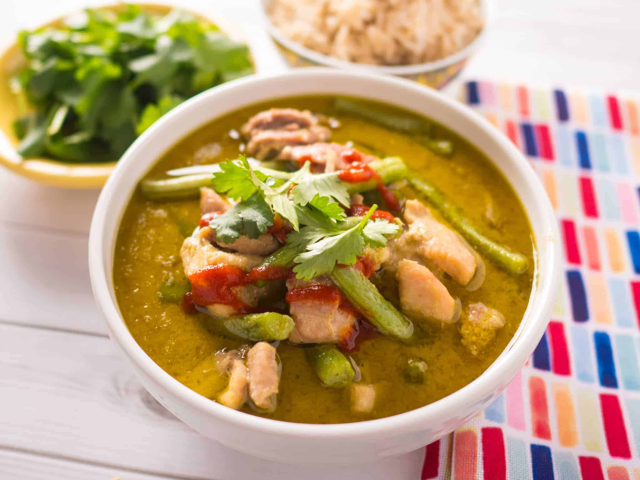 Thai chicken curry pressure cooker recipe