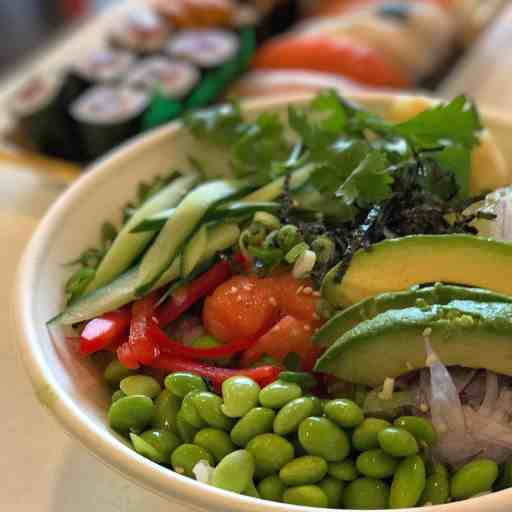 Poké bowl at Sushi Ten | DadCooksDinner.com