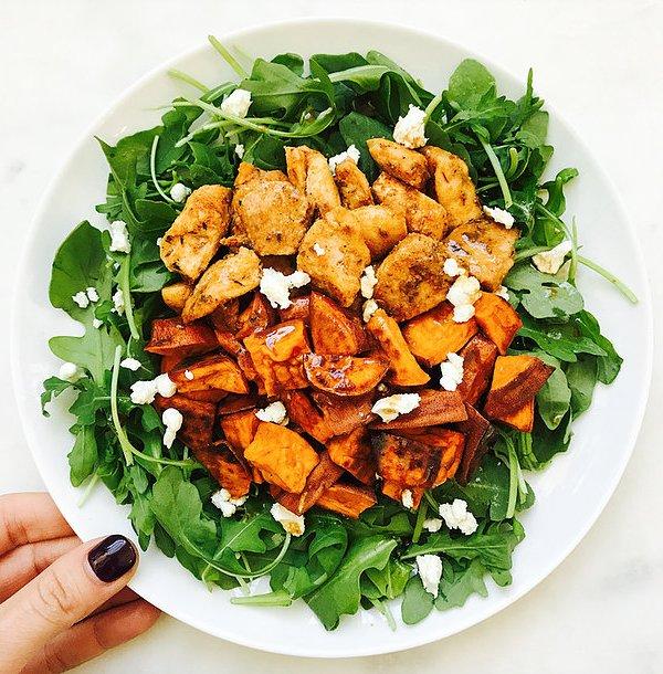 Spicy Chicken & Sweet Potato Salad