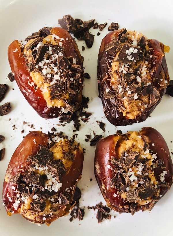 PB & Dark Chocolate Stuffed Dates