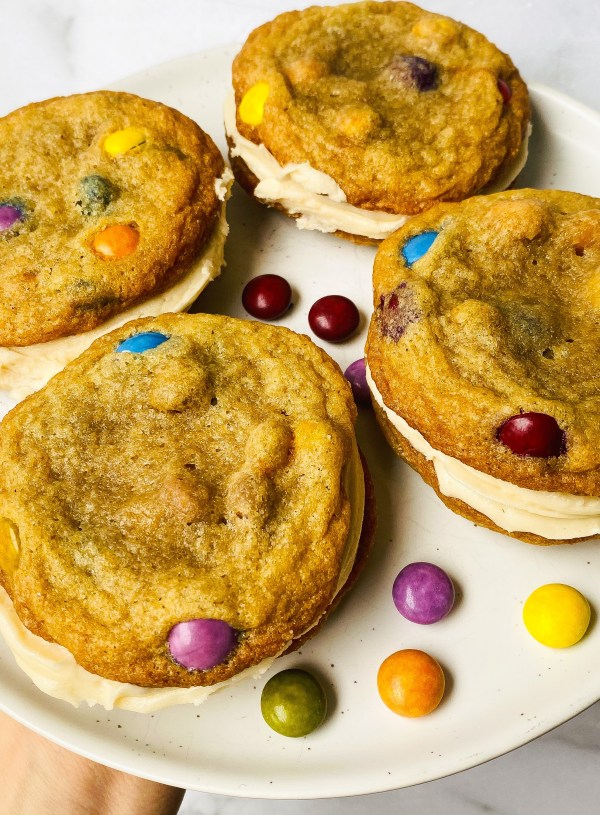 The Ultimate M&M Cookie Sandwich (Copycat Double Doozies)