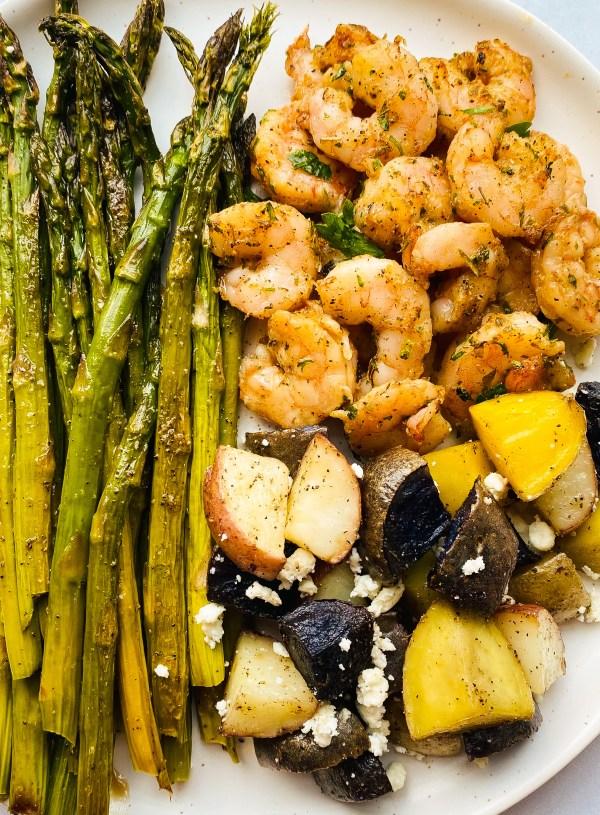Easy Greek Shrimp Sheet Pan Meal