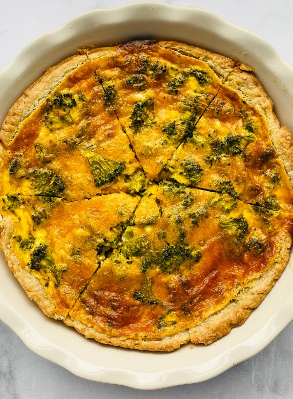 Broccoli and Cheddar Quiche