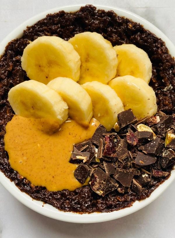 Brownie Batter Baked Oatmeal- Single Serving