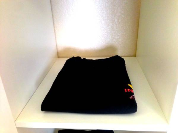 Step 12 - Flip Shirt over and place in Cubby or Drawer. Perfect Every time!