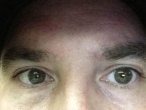 Groomed Eyebrows Close Up