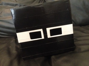 Minecraft Enderman mask DIY Duct Tape Complete