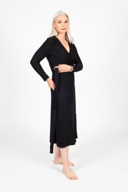 Faye Wrap Dress (Black)