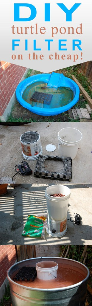 Pin This! How to create a pond filter using 5 gallon buckets.