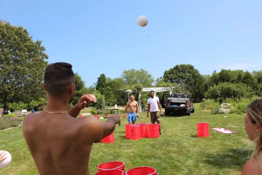 Outdoor beer pong