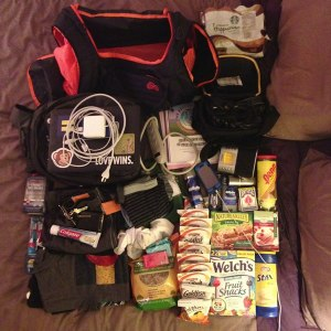 (Almost) Everything I'm bringing to the hospital.