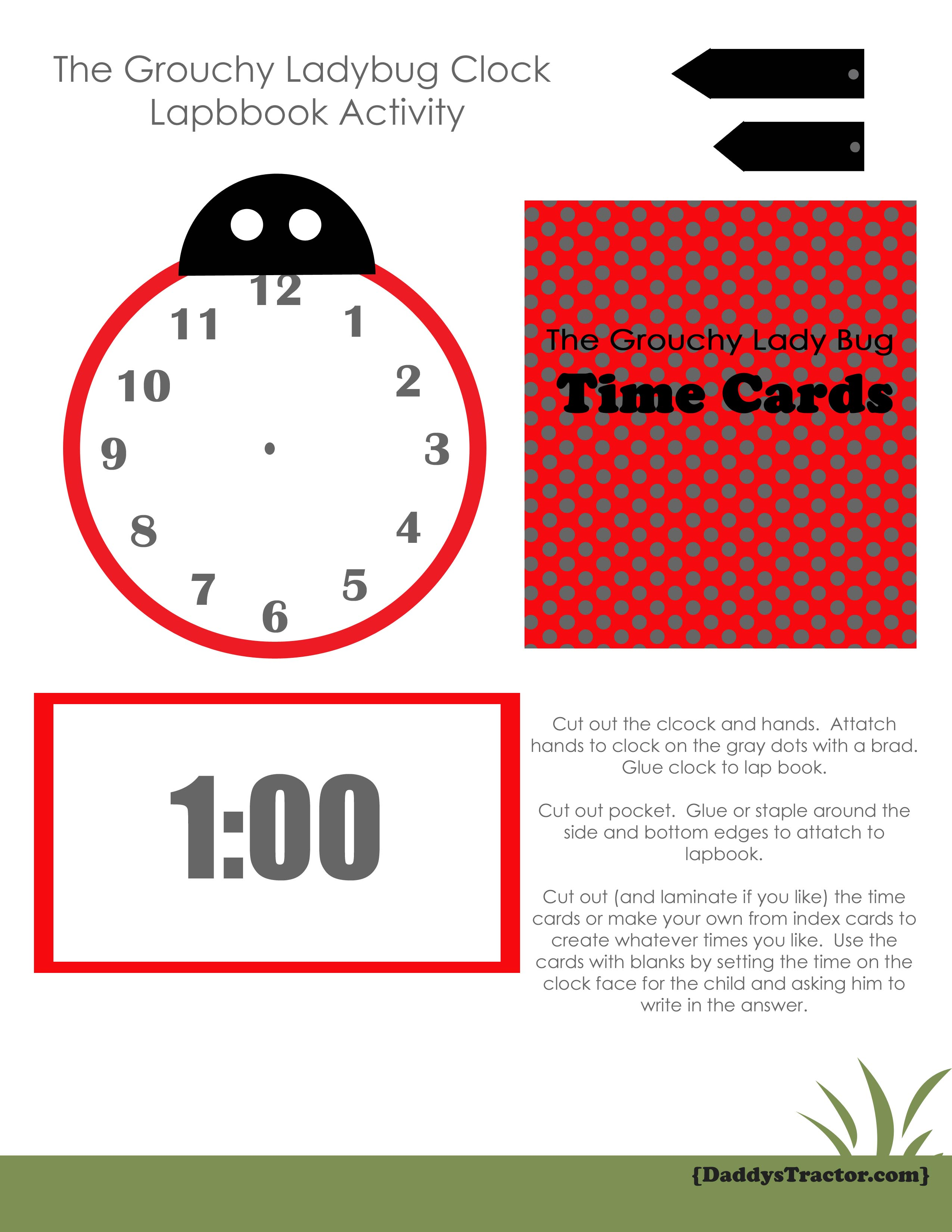 Grouchy Ladybug Insect Activity Or Lapbook