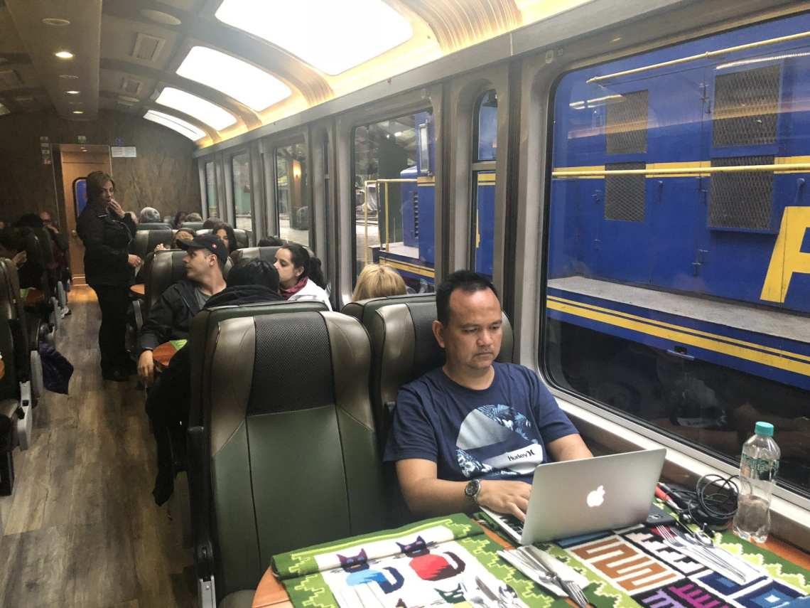 I blogged on our train ride after exploring Machu PIcchu