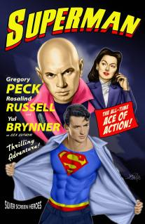 Gregory Peck, Rosalind Russell, & Yul Brynner in Superman