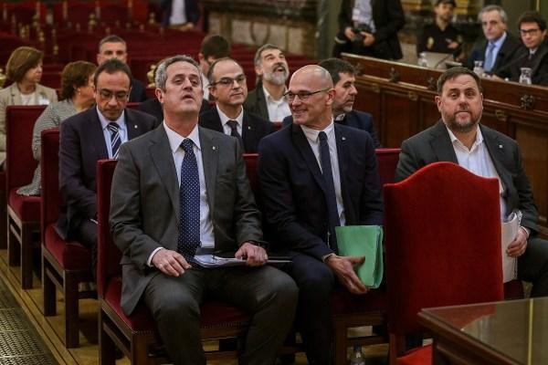 Els presos, el primer dia de judici al Suprem. | Pool EFE