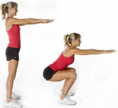 Sentadilla ejercicios para glúteos
