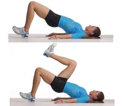 Suelo ejercicios para glúteos