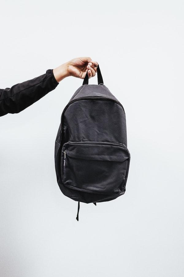 A regular backpack