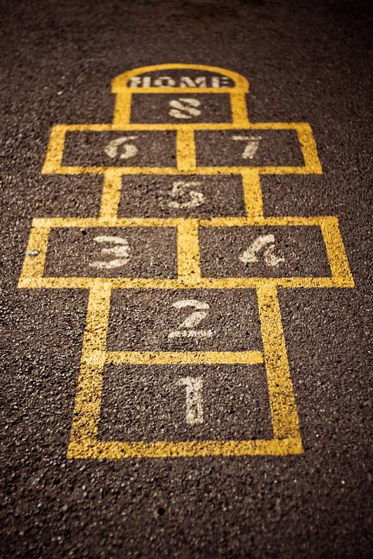 A hopscotch grid