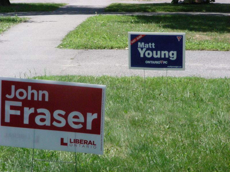Image of John Fraser and Matt Young election signs