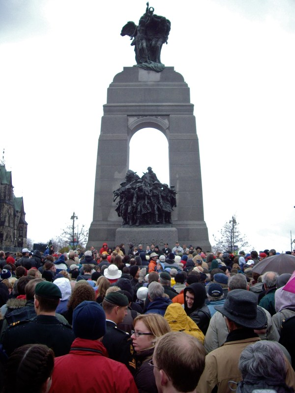 National War Memorial on Remembrance Day