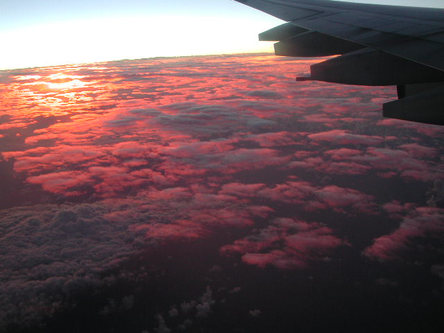 sunrise over the south pacific