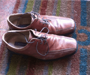 image of brown men's dress shoes