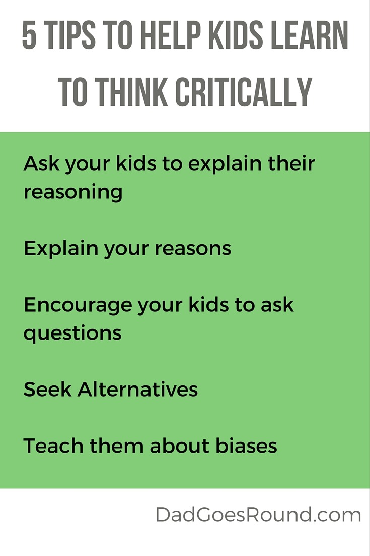 Teach Kids the Difference Between Truth and Truthiness | Dad Goes Round | Do your kids know how to distinguish between fact and fiction? These five tips will help kids learn to think critically. Number 5 is the hardest.