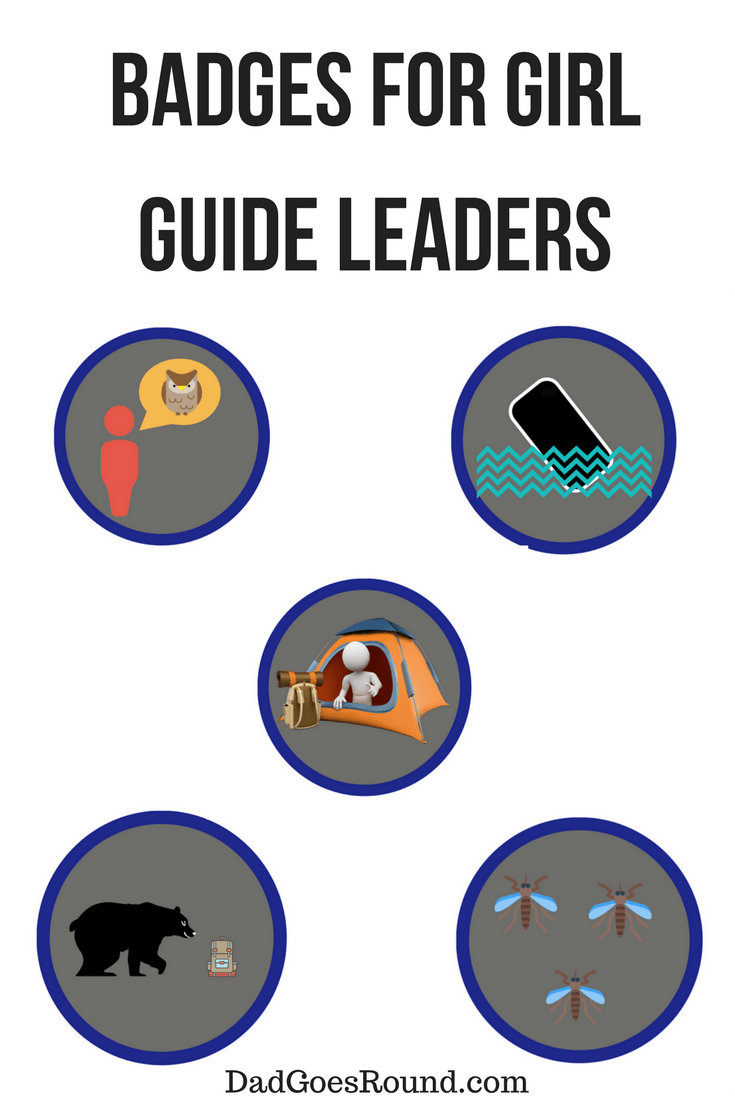 Badges for Girl Guide and Girl Scout Leaders | Girl Guides and Girl Scouts get badges for their accomplishments - we need to recognize the leader too!