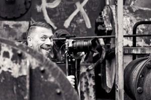 Man using a camera