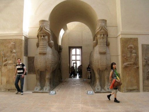 antiquities in the Louvre Museum