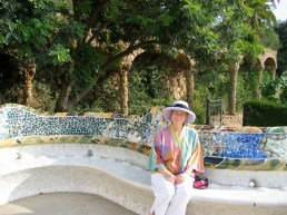 mosaic curving benches Parc Guell, Barcelona