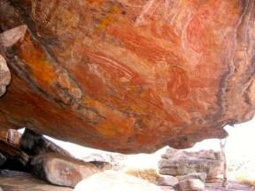 the main overhang at Ubirr Rock
