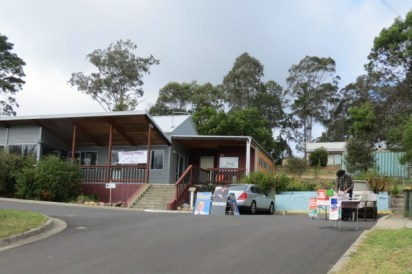 the Boomerang Centre, building designed by my husband, was the polling place at Mogo