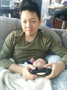 Gamer Dad and baby