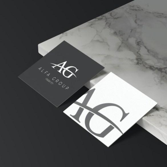 """אלפא גרופ- עיצוב לוגו לחברת נדל""""ן"""