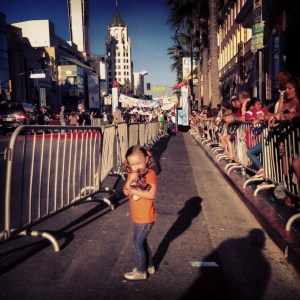 Ava getting nervous walking down Hollywood Blvd