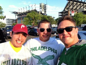 Kulp bros at Eagles game