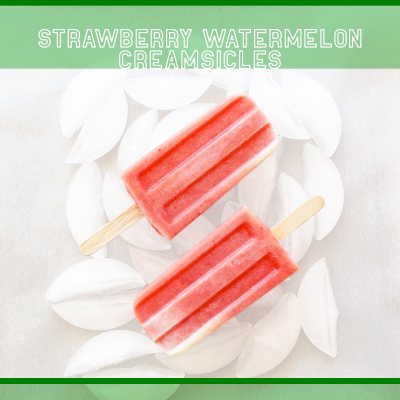 Homemade Strawberry Watermelon Creamsicles from Heaven.