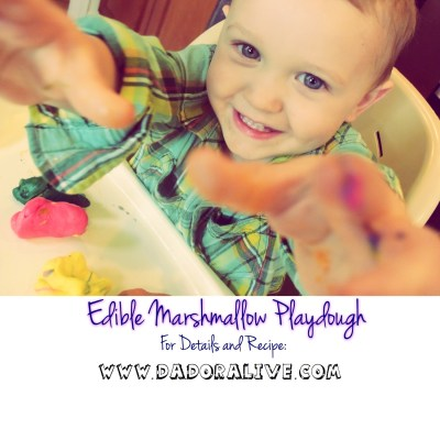 Edible Marshmallow Playdough.