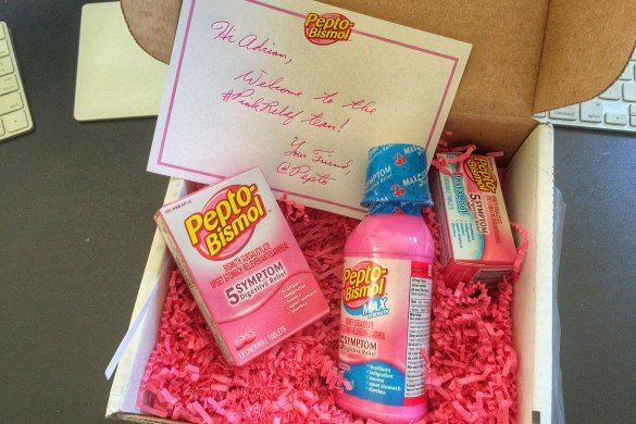 Pepto welcome package