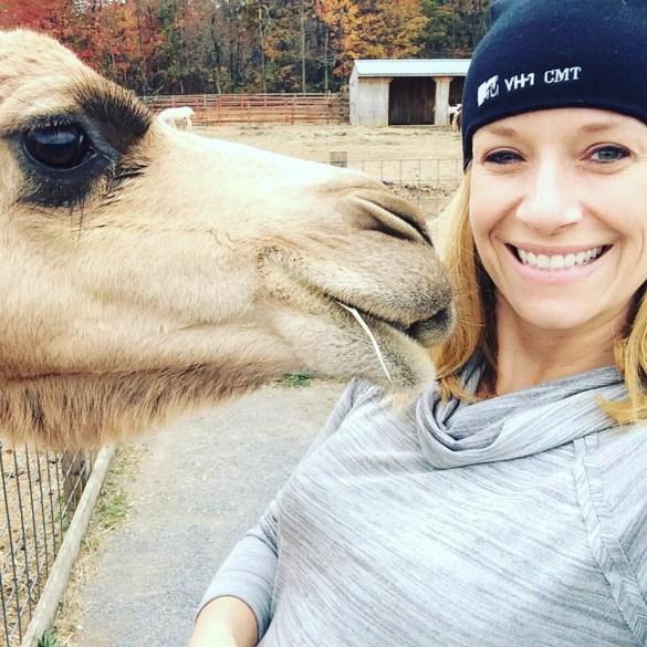Camel kissing Jen