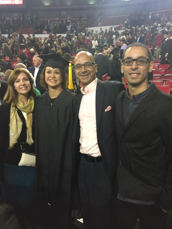 Victor and family at graduation