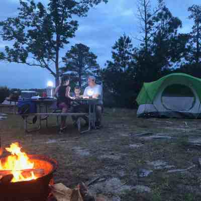 Camping in the Great Outdoors.