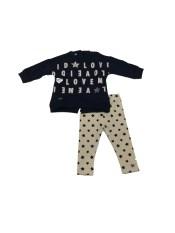 Conjunto legging y sudadera letras bebé IDO